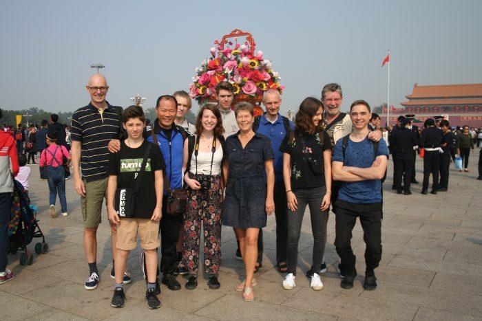 5.10.18 Nationalfeiertag in Beijing: auf dem Platz vor dem Tor des himmlischen Friedens